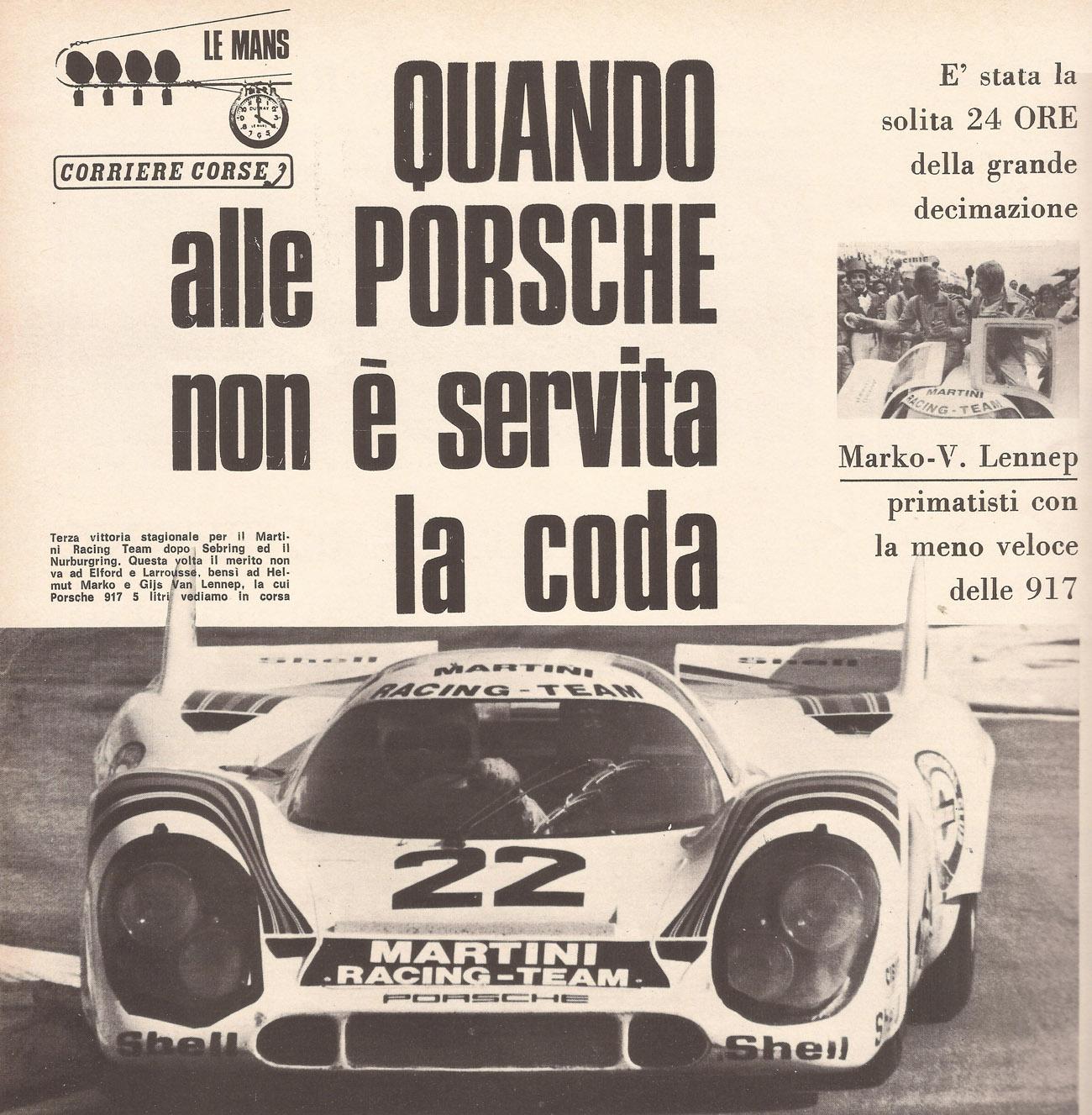 Pagina 22 di Autosprint 14-21 giugno 1971 - Page 22 of Autosprint 14-21 June 1971